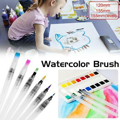 Portable Artist Watercolor Painting Brushes Brush Oil Acrylic Flat Tip Paint Kit