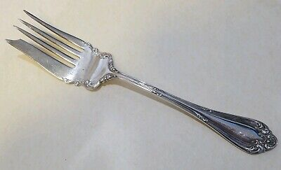 1896 Joan Wallace Silver Plate Sliced Hot Cold Meat Fork A Beauty