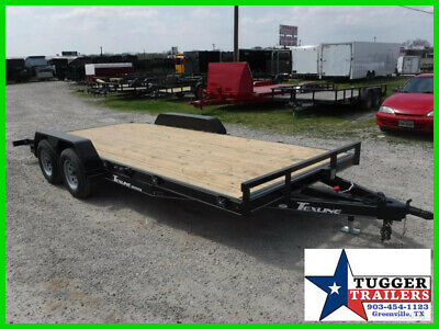 ALL NEW Texline 83X16 16Ft Flatbed Tow Car Hauler Race Track Utility Trailer TX
