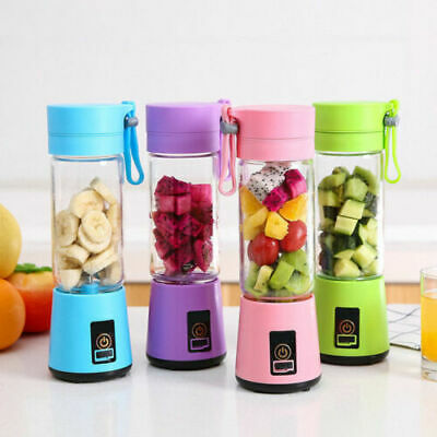 380ml Eectric Portable Blender Juicer Smoothie Mixer cordless Rechargeable USB