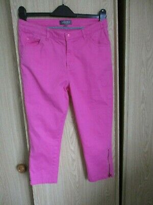 "Girls summer cotton  trousers  "" Bright pink ."" age 12/13.  Marks & spencer."