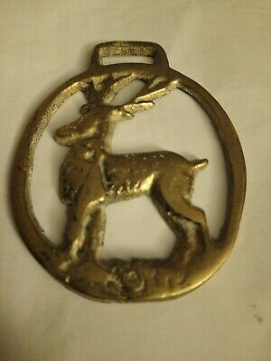 Antique Vintage Horse Brass - Scotland/Scottish/Stag/Deer
