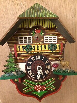 Vintage Cuckoo Clock Helmut Kammerer No Jewels Unadjusted Western Germany Repair