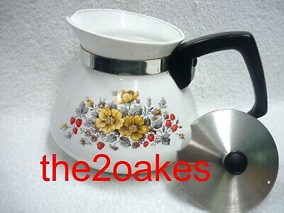 Corning Ware BANTRY Stovetop 6 cup 1971 Garden of Tea Pots Kettle