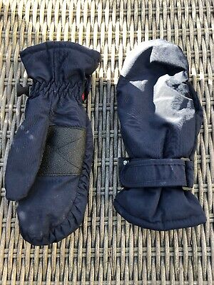 Boys Navy Warm Winter Mittens With Thinsulate By Boden Size S Age 5-6-7-8 Years