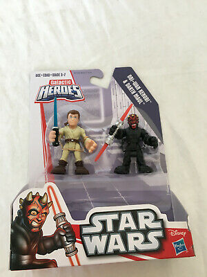 Star Wars Galactic Heroes Obi-Wan Kenobi & Darth Maul New Damaged Package