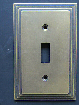 Vintage Amertac 84T Carriage House Brass Switch Plate Cover Antique Brass