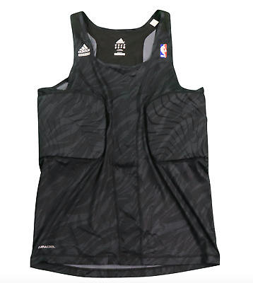 Adidas NBA Authentics Techfit Padded Team Issued Tank Top Jersey Black Camo 2XLT