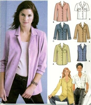 Uncut Sewing Pattern Ladies Front Button Shirt Blouse Size 6-12