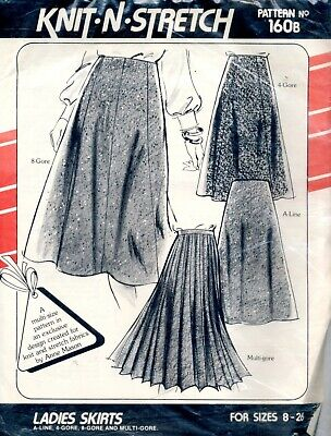 Uncut Sewing Pattern ladies A line, 4 8 & Multi Gored Skirts Size 8-26