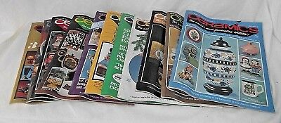 Ceramics Lot Magazines Hobby Projects Techniques 1974 1975 Decor 11 Monthly VTG