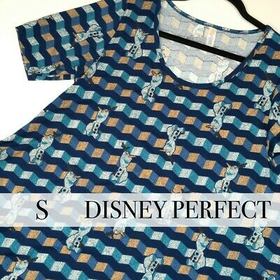 NWT LuLaRoe Perfect Tee Disney FROZEN Olaf (Size: Small) - NEW with Tags!
