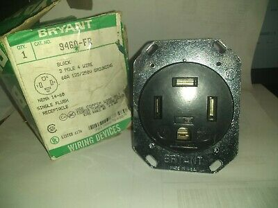 Bryant / Hubbell  9460Fr  60 Amp 3 Pole 4 Wire 125/250V Grounding  Receptacle