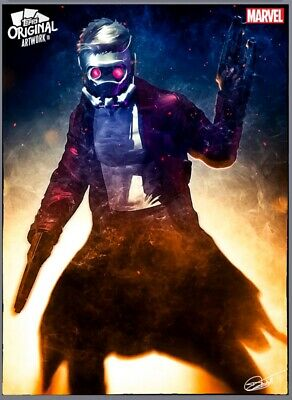 Topps Digital Marvel Original Artwork Armed Star-Lord 2071cc