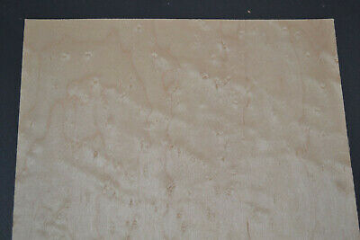 Birdseye Maple Raw Wood Veneer Sheets 9.5 x 39 inches 1/42nd thick      G7634-44
