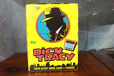 Dick Tracy Complete Box of 36 Packs Topps 1990