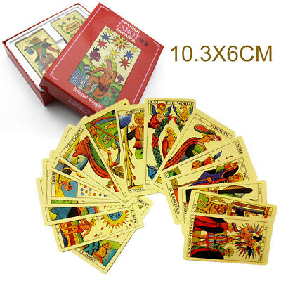 78* English & Spanish Tarot Deck Cards Divination Board Game Tarot Cards Gift AU