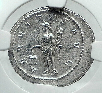 GORDIAN III Authentic Ancient 240AD Rome Silver Roman Coin AEQUITAS NGC i81393