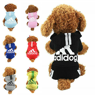 Adidog Pet Small Dog Jumpsuit Clothes Apparel Puppy Cat Warm Hoodie Coat Sweater
