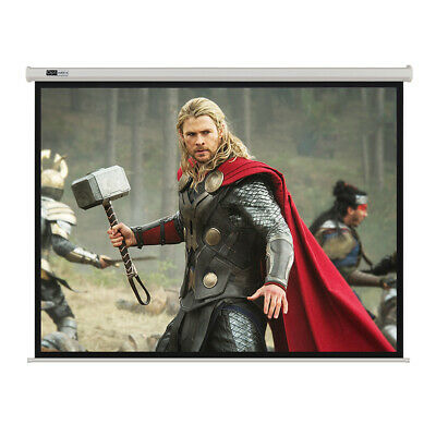 "155"" Electric Motorised Projector Screen Home Theatre HD TV Projection"