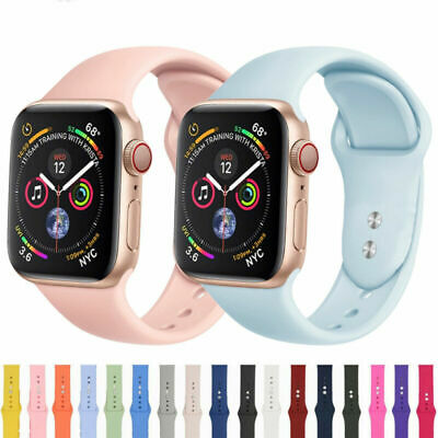Silicone Watch Sports Apple Strap Series 5 4 3 2 iWatch Band 40/44mm for 38/42mm