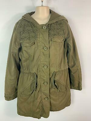 Girls Next Khaki Green Light Weight Parka Style Coat Jacket Kids Age 12 Years