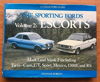 Sporting Fords Volume 2 Escort RS 2000  Mexico 1800 1600  Brochure Manual Book