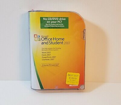Microsoft Office Home & Student 2007 Word Excel PowerPoint w/ COA & Product Key