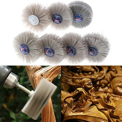Deburring Abrasive Alumina Wire Brush Flower Head Polish Grind Buff Wheel Shan-