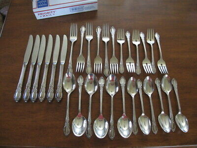 SET of 6 Wm A Rogers Oneida Silverplate PARK LANE CHATELAINE  5pc PLACE SETTINGS