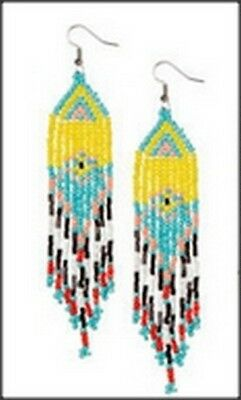 Seed Bead Earrings (1 Pair Yellow Colors) French Wire Setting
