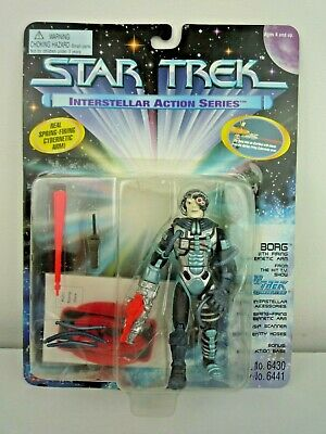 Star Trek Tng Interstellar Action Series Borg Figure With Accessories & Stand