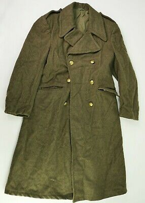 "Manteau ""capote"" militaire 1965 ABL t 46 (S) vintage Belgian army Greatcoat s.36"
