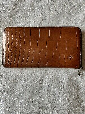 Mulberry Wallet In Tan Leather