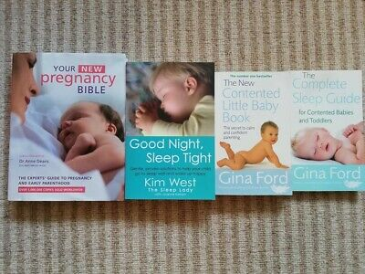 Pregnancy, baby and toddler parenting books - used bundle