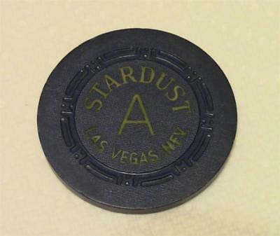 "Stardust Las Vegas  ""A"" poker chip navy blue color gaming Casino Nevada vintage"