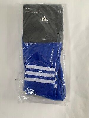 Adidas Football Team Sock AdiSock Blue  Size 5 - UK Shoe sz 10.5-12 - EUR 46-48