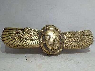 RARE ANCIENT EGYPTIAN ANTIQUE Winged Scarab Beetle 664 - 332 Bc
