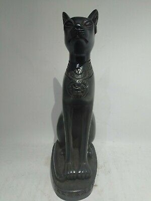 RARE ANTIQUE ANCIENT EGYPTIAN Statue of Stone Cat Goddess Bast Bastet 945 Bc