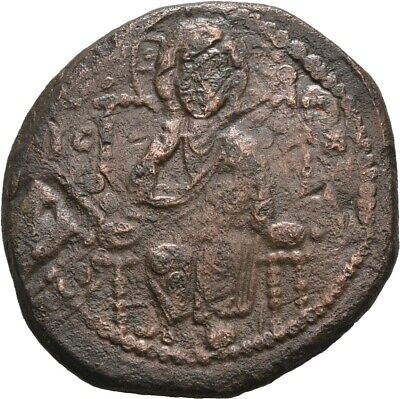 Lanz Byzantine Empire Anonymous Follis Constantine Ix Christ Bronze §Dka2214