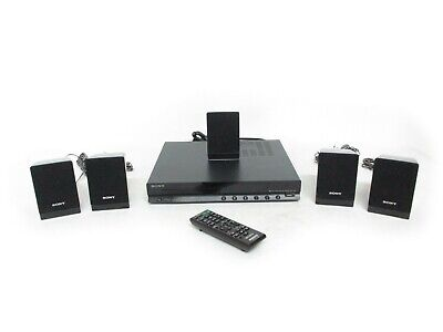 Sony HBD-TZ140 DVD Home Theater System w/ Remote & Speakers Tested! Works!