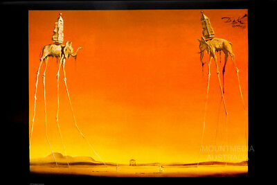 (Laminated) Salvador Dali The Elephants 1948 Poster (61X91Cm) Print New Art