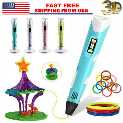 Hot Xmas Gift 3D Printing Pen Doodler Drawing Toys Present For Boys & Girls US
