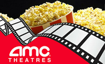 2 Black Movie Tickets 2 Large Popcorn 2 Drinks at AMC Theaters Nationwide