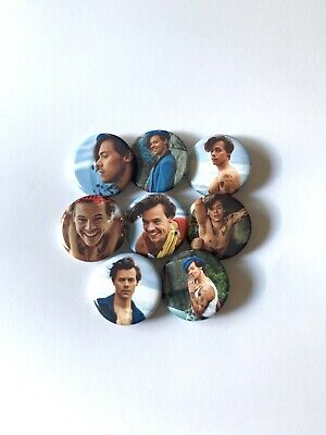 """Harry Styles 1.25"""" Rolling Stone 2019 Buttons Pins Set Of 8"""