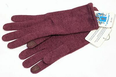 NWT Open Sesame By Portolano DAMSON Womens BLEND Cashmere  Gloves Sz S