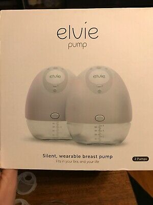 Elvie Silent Wearable Double Breast Pump No Cords Hands Free Smartphone Connect
