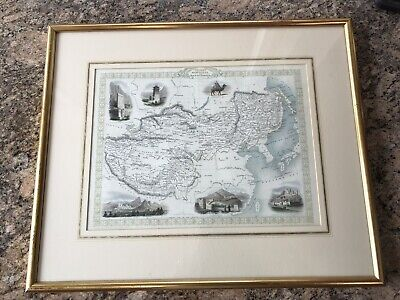 Tallis & Co. Antique Map of Tibet, Mongolia, and China