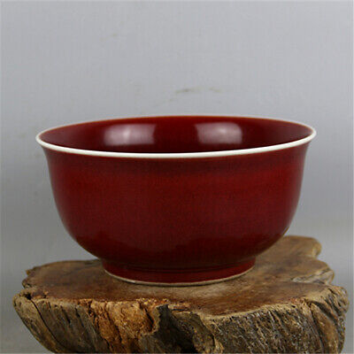 Chinese Ming Xuande marked old antique Porcelain red glaze luohan bowl