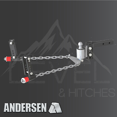 2 Ball 3 4 5 6 Frame Brackets 3326 Andersen No-sway Weight Distribution Hitch 8 Drop//rise